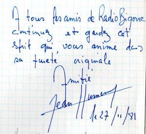 Livre d'or J.Humenry